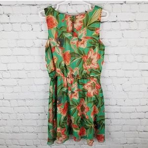 Jolie sleeveless Hawaiian floral Summer Dress